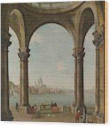 Capriccio With St. Pauls And Old London Bridge Wood Print