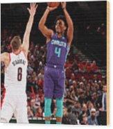 Charlotte Hornets V Portland Trail Wood Print