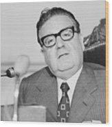 Chilean President Salvador Allende Wood Print
