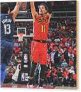 Dallas Mavericks V Atlanta Hawks Wood Print
