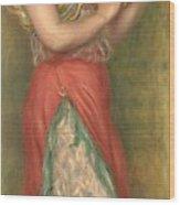Dancing Girl With Tambourine  Wood Print