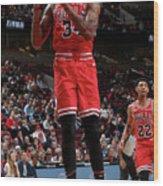 Denver Nuggets V Chicago Bulls Wood Print