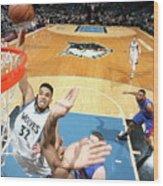 Detroit Pistons V Minnesota Timberwolves Wood Print