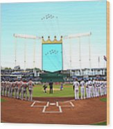 Division Series - Los Angeles Angels Of Wood Print