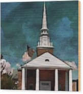 First Baptist Church North Myrtle Beach S C Wood Print