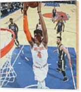 Golden State Warriors V New York Knicks Wood Print