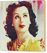 Hedy Lamarr, Vintage Movie Star Wood Print