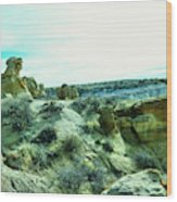 High Desert Landscape Wood Print