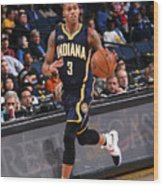 Indiana Pacers V Golden State Warriors Wood Print