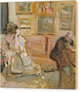 Jos And Lucie Hessel In The Small Salon  Rue De Rivoli  Wood Print