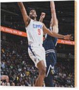 La Clippers V Denver Nuggets Wood Print