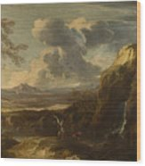 Landscape With Tobias And The Angel  Wood Print