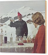 Lech Ice Bar Wood Print