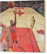 Los Angeles Lakers V Chicago Bulls Wood Print