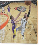 Los Angeles Lakers V New Orleans Wood Print