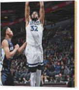 Memphis Grizzlies V Minnesota Wood Print