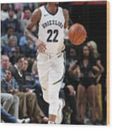 Milwaukee Bucks V Memphis Grizzlies Wood Print