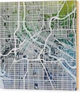Minneapolis Minnesota City Map Wood Print