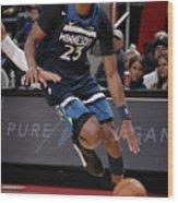 Minnesota Timberwolves V Detroit Pistons Wood Print