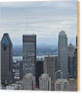 Montreal Skyline Wood Print