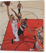 New York Knicks V. Trail Blazers Wood Print