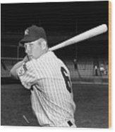 New York Yankees 3 Wood Print