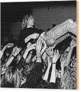 Nirvana Perform Live In Frankfurt Wood Print