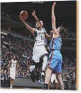 Oklahoma City Thunder V Minnesota Wood Print