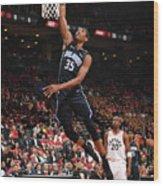 Orlando Magic V Toronto Raptors - Game Wood Print