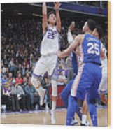 Philadelphia 76ers V Sacramento Kings Wood Print