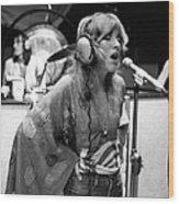 Photo Of Stevie Nicks And Fleetwood Mac Wood Print