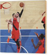 Portland Trail Blazers V New York Knicks Wood Print