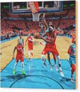 Portland Trail Blazers V Oklahoma City Wood Print