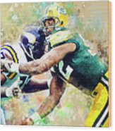 Reggie White. Green Bay Packers. Wood Print