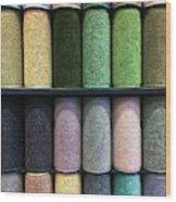 Rolls Of New Carpet Wood Print