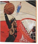 Sacramento Kings V Portland Trail Wood Print