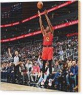 San Antonio Spurs V Atlanta Hawks Wood Print