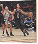 San Antonio Spurs V La Clippers Wood Print