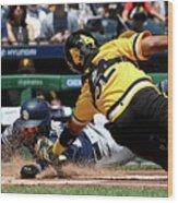 San Diego Padres V Pittsburgh Pirates Wood Print