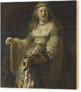Saskia Van Uylenburgh In Arcadian Costume  Wood Print