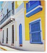 Streets Of San Juan - Puerto Rico Wood Print