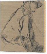 Study Of A Jockey Wood Print