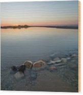 Sunset Over Platte River  Wood Print