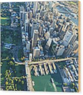 Sydney Downtown - Aerial View Wood Print
