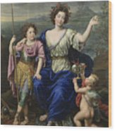 The Marquise De Seignelay And Two Of Her Sons  Wood Print