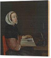 The Reader  Wood Print