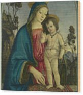 The Virgin And Child  Wood Print