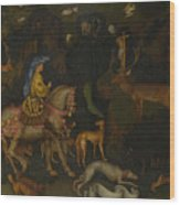 The Vision Of Saint Eustace  Wood Print