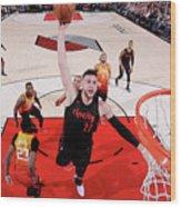 Utah Jazz V Portland Trail Blazers Wood Print