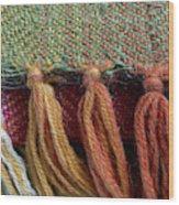 Wool Textile Background Wood Print